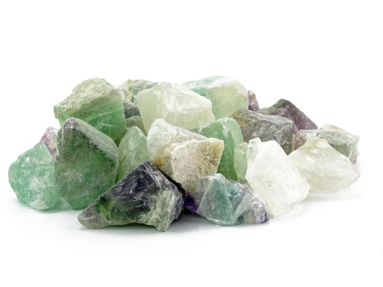 Fluorit Wassersteine / Dekosteine (0,5 kg)