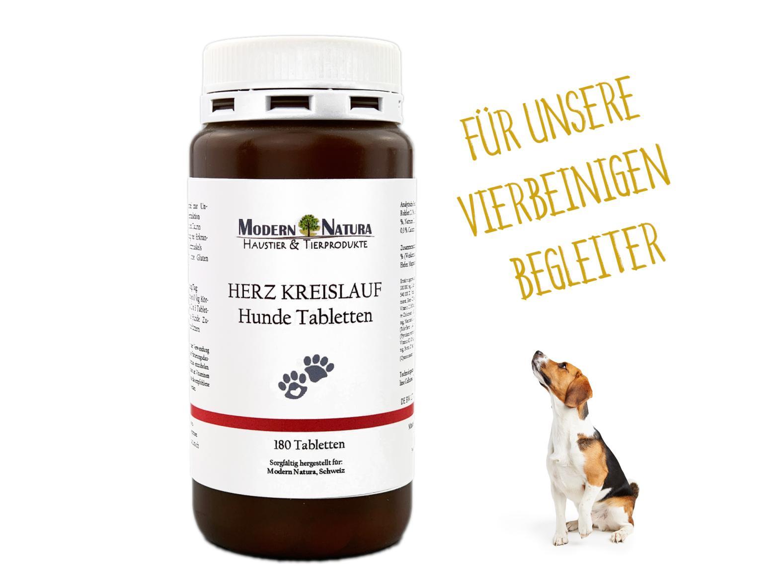 Herz - Kreislauf Hunde Tabletten (180 Stück) - Für ein starkes gesundes Hundeherz