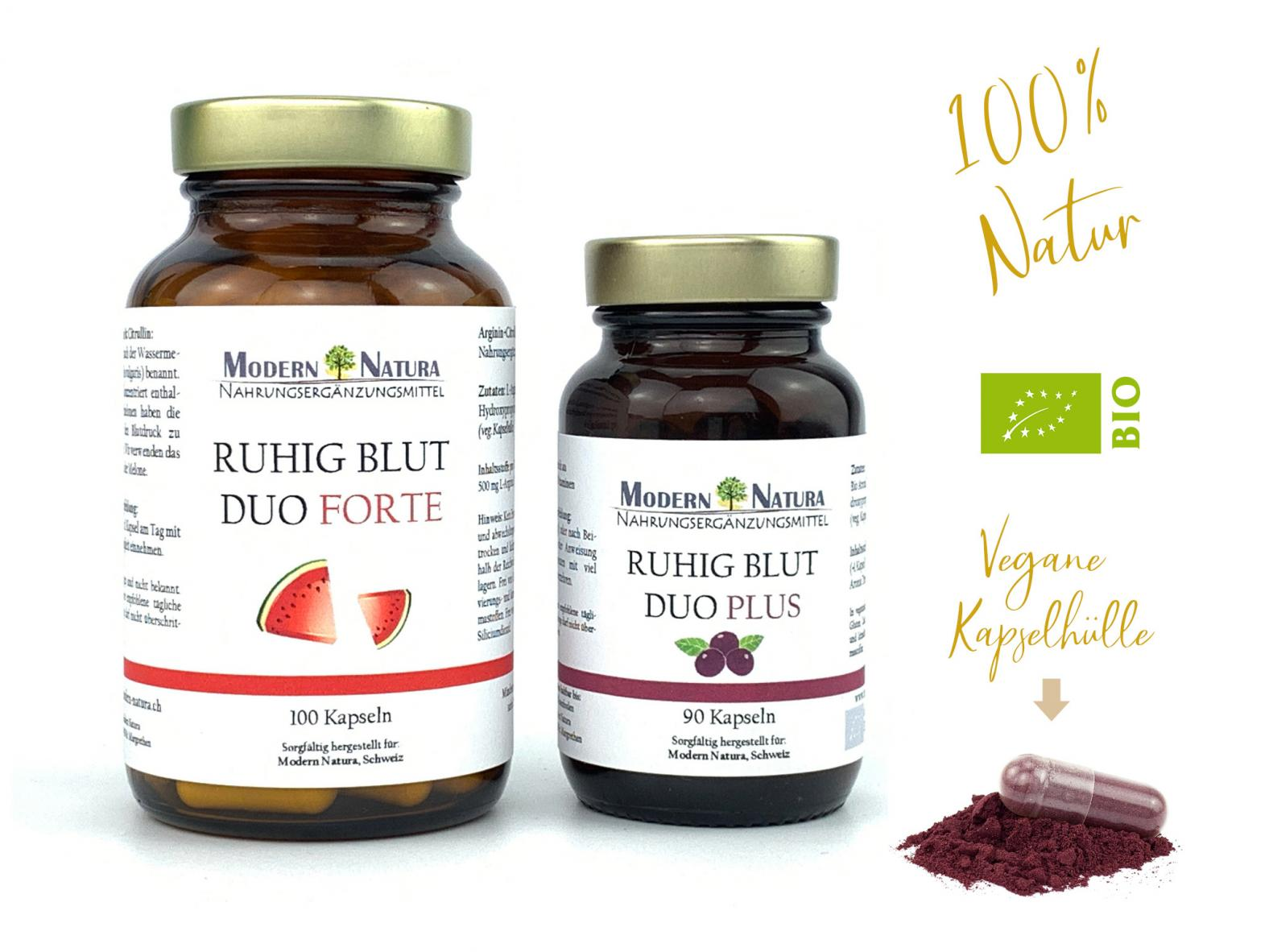 Ruhig Blut - Duo Set - Natürlich, Vegan & Glutenfrei - Reich an wertvollen Vitaminen & Aminosäuren