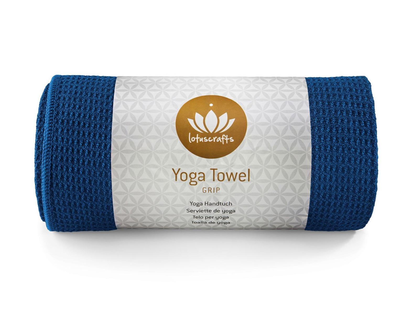 Yoga Handtuch GRIP (183 x 61 cm) - Königsblau - Mit rutschfester Unterseite