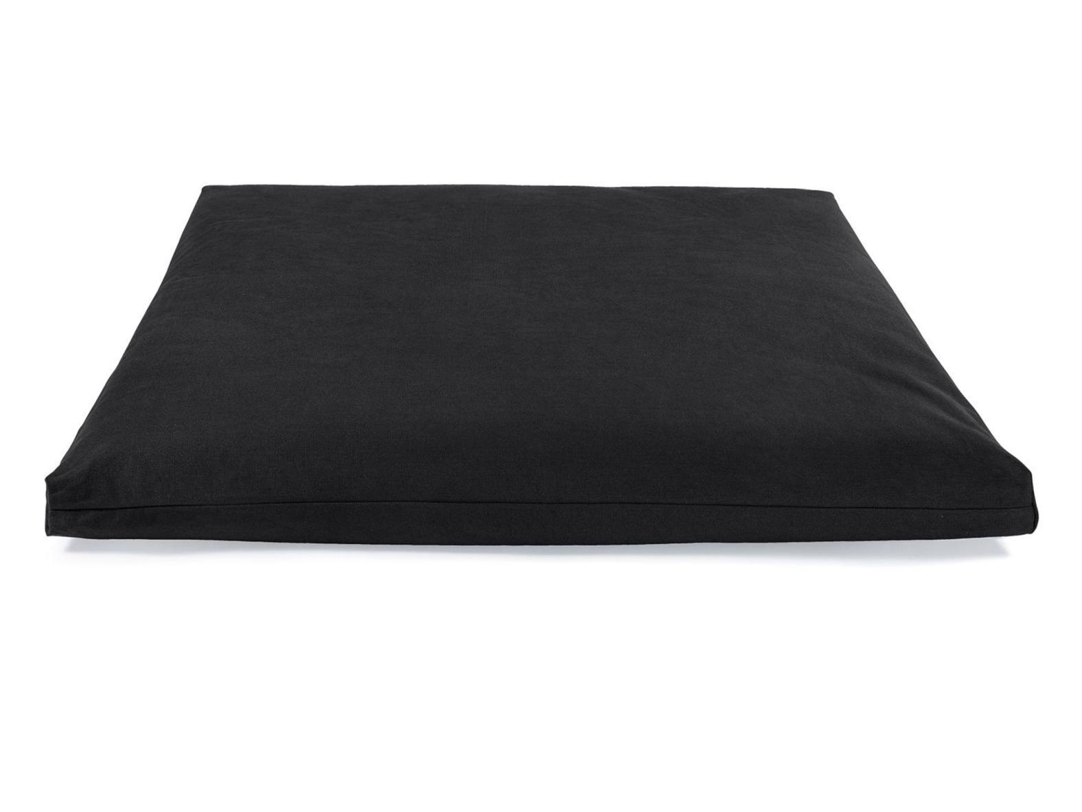 Meditationsmatte Zabuton PREMIUM - Schwarz - 100% BIO Baumwolle - 85 x 80 cm
