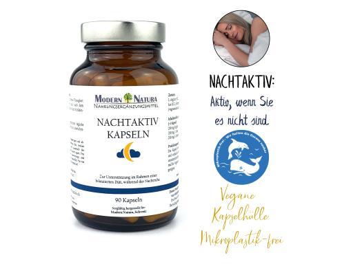 Nachtaktiv - 100 Kapseln - Vegan & Glutenfrei - Unterstützung beim Abnehmen / Diät in der Nacht