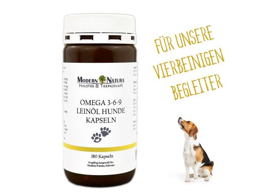 Omega 3-6-9 Leinöl Hunde Kapseln - 180 Stück