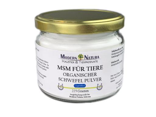 OptiMSM - Organischer Schwefel Pulver für Haustiere & Pferde (ca. 225 Gramm)