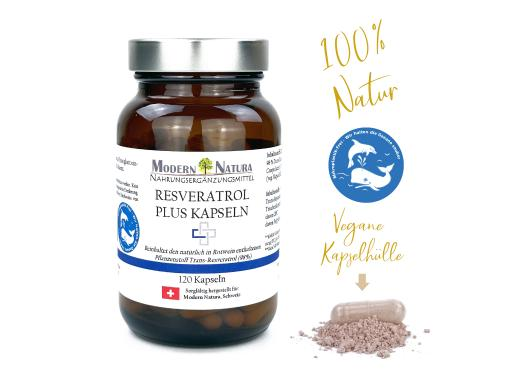 Resveratrol PLUS Kapseln (120 Stück, Vegan & Glutenfrei) - 98% Trans-Resveratrol und OPC