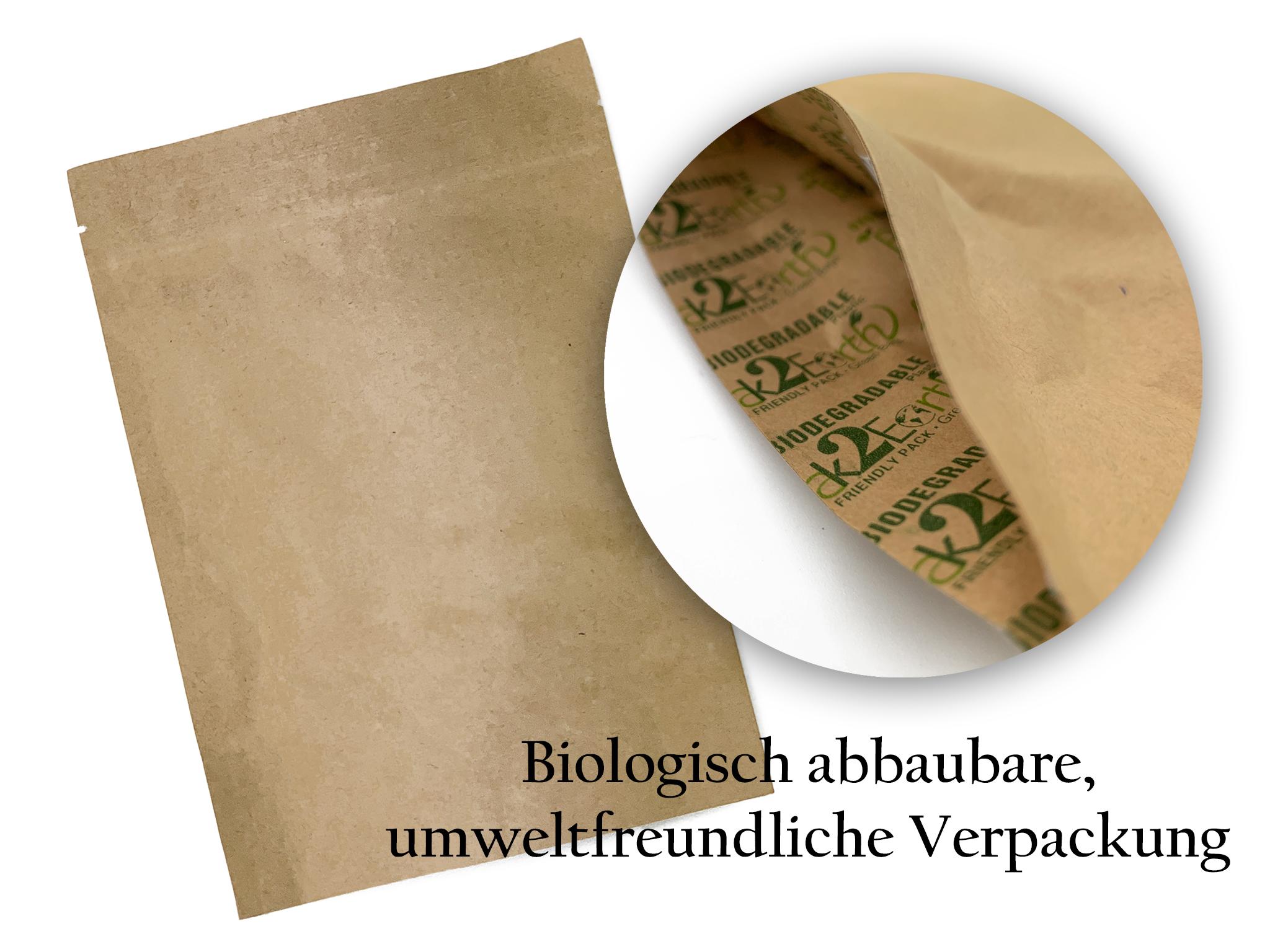 Biologisch abbaubare,  umweltfreundliche Verpackung