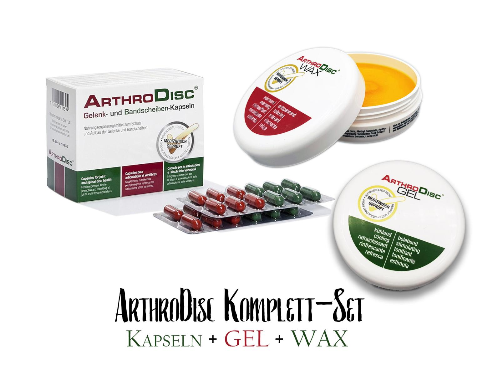 Fangocur ArthroDisc Komplett-Set (Arthro Disc Kapseln + Gel + Wax)