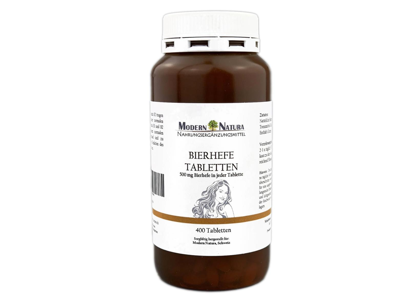 Bierhefe-Tabletten - 400 Stück - Mit 500 mg Bierhefe (Saccharomyces cerevisiae)