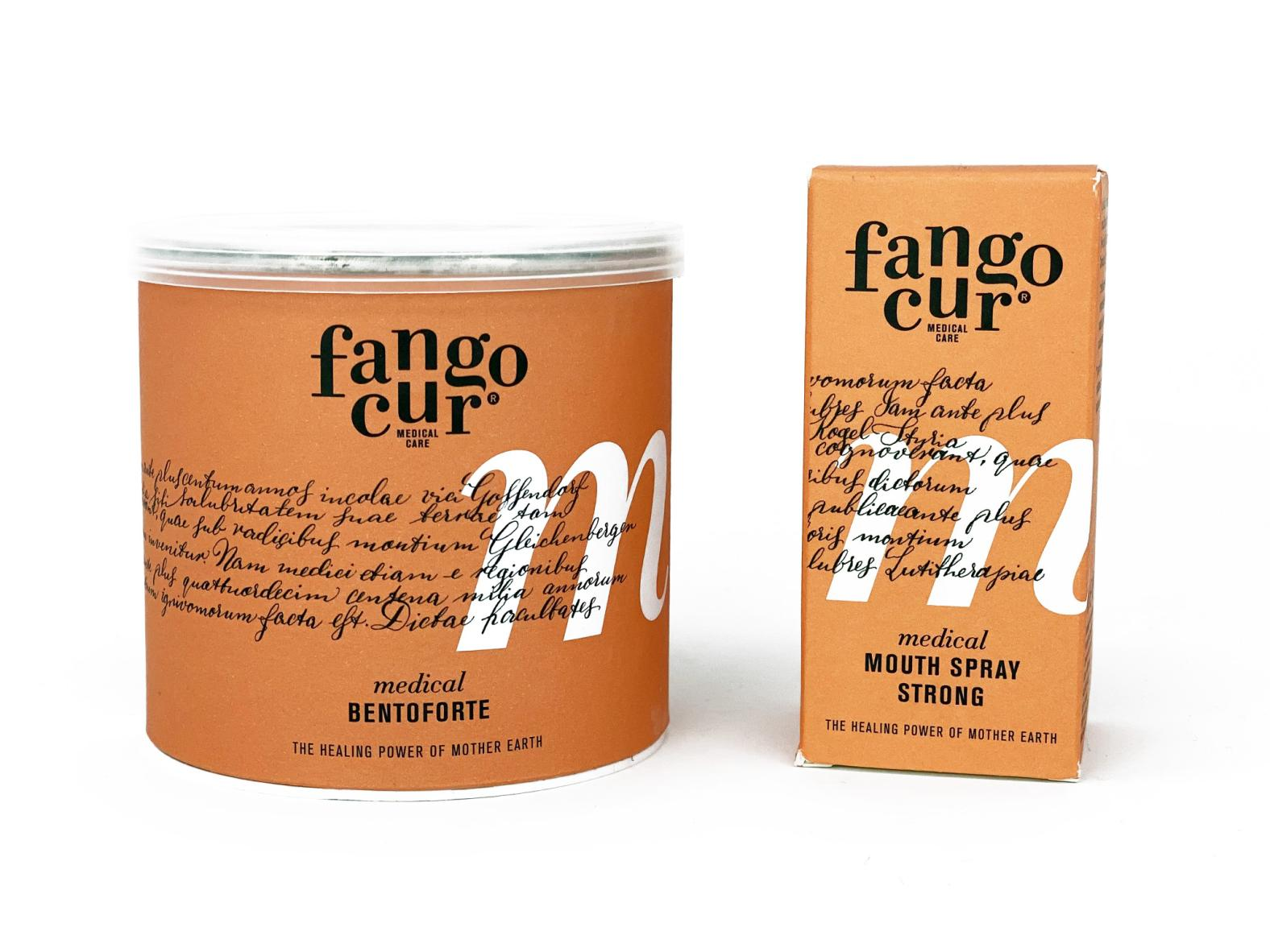 Fangocur Atem Frisch Set: Bentoforte (200 ml) + Mundspray Strong