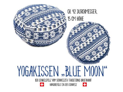 Yoga Meditationskissen - Yoga Kissen - Blue Moon (42 x 15 cm)
